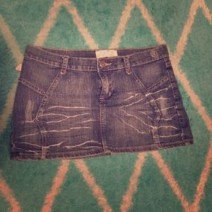 🐓3 for $24🐓 Distressed Mini Skirt